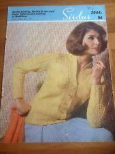 """Vintage Sirdar Knitting Pattern 2044 - Ladies Cardigan - Sizes 32-38"""""""