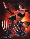Signed Sajad Shah Original X-Men Comics Art Print ~ Wolverine & X23