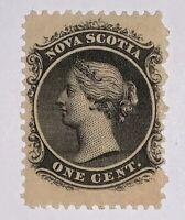 Travelstamps; 1860 Nova Scotia Stamps Scott #8 Mint Original Gum Hinged