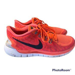 Nike Barefoot 5.0 Running Training Gym Trainers Unisex Size UK 6 US 8.5 Pink/Red