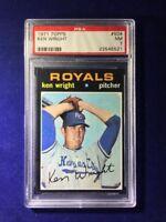 1971 Topps Ken Wright #504 PSA 7 Kansas City Royals