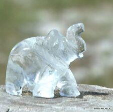 Crystal Clear Quartz Stone Elephant - Ganesha Worship - Soul Of A Buddha