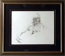Royo Delicadeza Gallery Framed Art Serigraph HAND SIGNED Paper Mother and baby