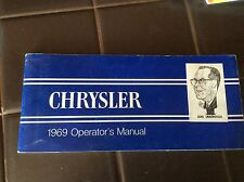 1969 Chrysler Owners Manual User Guide Reference Operator Book Fuses Fluids Oem