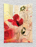 Floral Tapestry Digital Flower Fabric Print Wall Hanging Decor
