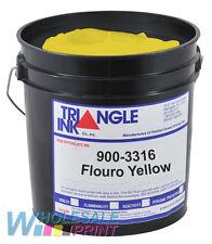 Triangle Ink 900-3316 Flouro Yellow screen printing plastisol 1 Quart (946ml)