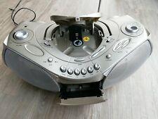 TEVION Radiorecorder CD/MP3 Boom Box, Radio mit CD-Spieler und Kassette, MD...