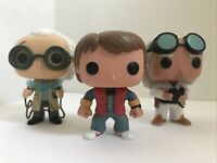 Funko Pop Back To The Future Lot Loose OOB Marty Mcfly Doc Brown