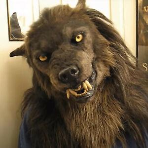 Faux Werewolf Mask Wolfman Masks Latex Costume Prop Halloween Novelty Wolf Mask
