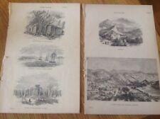 Ceylon - Sri Lanka  - Two old antique print Circa 1880