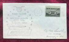 JOHN'S DEALS - US - 1957 1st FLIGHT AVIANCA AIRLINES -  NEW YORK TO LIMA, PERU