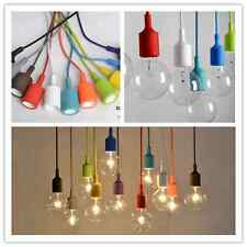 Vintage Colorful Candy Ceiling Lamp Light Glass Pendant Lighting Bulb Home Decor