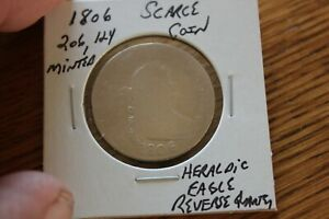 1806   ONLY 206,124 MINTED   HERALDIC EAGLE REVERSE QUARTER