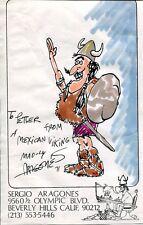 SERGIO ARAGONES ORIGINAL 5x8 COLOR SELF PORTRAIT MAD MAGAZINE VERY RARE Comic Art