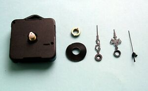 Quartz Clock movement kit for 8 to 12mm thick dials 45mm serpentine hand sets
