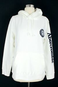 NWT Men's Abercrombie & Fitch Hooded Sweatshirt Hoodie Cream Small