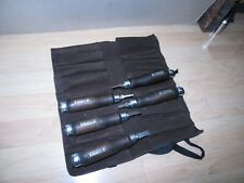 Mint Unused Narex Czech Republic Mortise Chisel set w/suede roll Timber framing