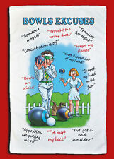 Bowls Excuse - Bowling - Lawn - Green, Crown - Large Microfibre Cleaning Cloth