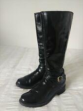 Clarks Black Patent Leather Ladies Boots, Size UK5