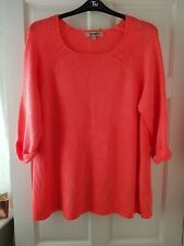 Joe Browns Oversized Orange Knitted Fishermans Jumper. Size 24/26