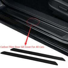 2PCS Carbon Fiber Car Scuff Plate Door Sill Cover Protector Guard For Cars Truck