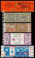 5 1948 - 1966  BASEBALL ALL-STAR GAME VINTAGE UNUSED FULL TICKETS PLUS A BONUS