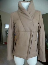 NWT DANIER LATTE LEATHER JACKET THINSULATE LINING XXXS