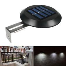 2pcs/Set Waterproof 9LED Solar Outdoor Wall Light Gutter Garden Yard Fence Lamp