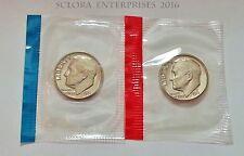 1971 P & D Roosevelt Dime Set (2 Coins) *Mint Cello* *Free Shipping*