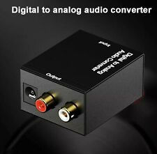 3.5mm Toslink SPDIF Fiber Coaxial RCA Stereo Digital to Analog Audio Converter p