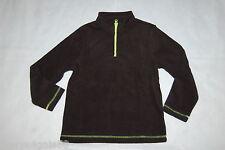 Boys L/S Sweatshirt BLACK FLEECE PULLOVER High Collar ZIP NECK Size S 6-7