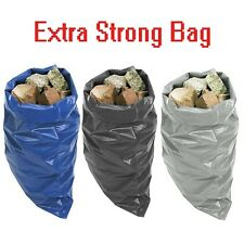More details for extra heavy duty black rubble bags sacks builders bags blue high strength 30kg+