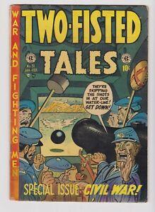 TWO-FISTED TALES #31 1953 EC War WALLY WOOD Civil War US GRANT Jack Davis G+ 2.5