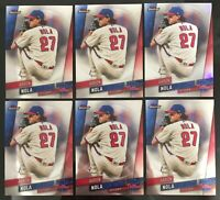 2019 Topps Finest Baseball lot of 6 cards #6 Aaron Nola with 1 Refractor Card