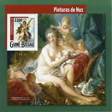 Guinea-Bissau Art Stamps 2015 MNH Nudes Nude Paintings Bouguereau 1v S/S