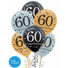 Sixtieth 60th Birthday Sparkling Celebration Balloons Party Supply Decoration 15