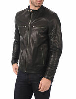 ★Giacca Giubbotto Uomo in di PELLE 100% Men Leather Jacket Veste Homme Cuir R91