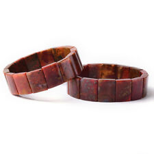 Natural Zhanguo Warring States Golden Red Agate Gemstone Hand Bracelet AAAA 1Pcs