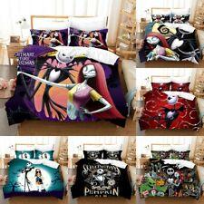 Nightmare Before Christmas Quilt Cover Duvet Cover Pillowcases Bedding Set 3PCS