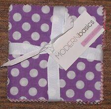 "(45) 5"" Fabric Squares - Modern Basics Bloom Purple Pink - Michael Miller"
