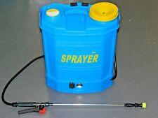 Backpack Weed Garden Sprayer Knapsack 16 Litre 12v 240v Battery Cordless