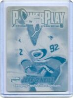 1/1 JEFF O'NEILL 2001 ATOMIC Power Play Printing Press Plate Carolina Hurricanes