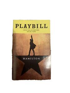 Hamilton Playbill Musical