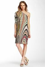 Tbags Printed One Shoulder Dress (size M) - -