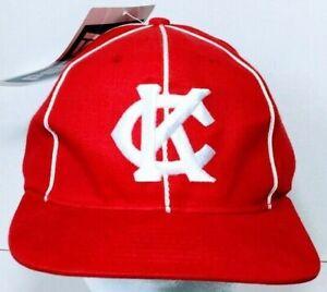 Kansas City Monarchs Negro Leagues Baseball Cap Hat Adjustable Strapback Red
