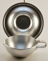 Vintage Kensington Stainless Steel Gravy Boat and Dish Set Art Deco Style