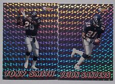 1993 PACIFIC SILVER PRISM 2 CARDS. DEION SANDERS, TONY SMITH. FROM PACKS.