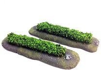 Terrain Scenery Hedge Handcrafted and Fully Painted 2x Wargames Tabletop Gaming