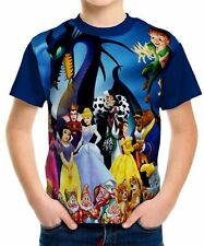 Disney Characters Boys Kids T-shirt Tee Age 3 4 5 6 7 8 9 10 11 12 13