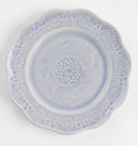 NWT Anthropologie Veru Scallopped Side Plate - Glazed Fine Stoneware Blue